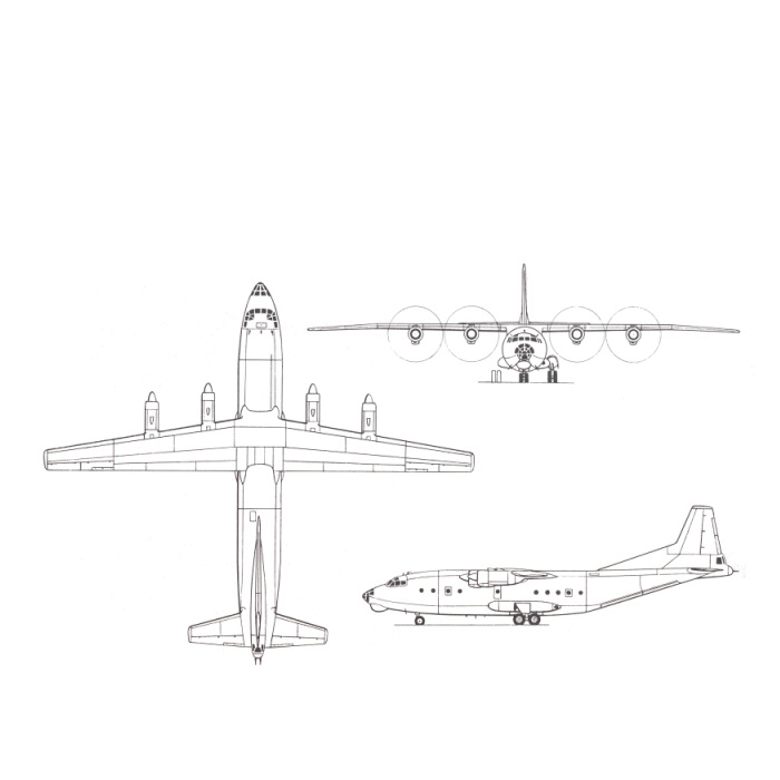Antonov AN12 diagram