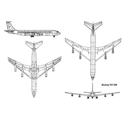 Boeing 707 diagram